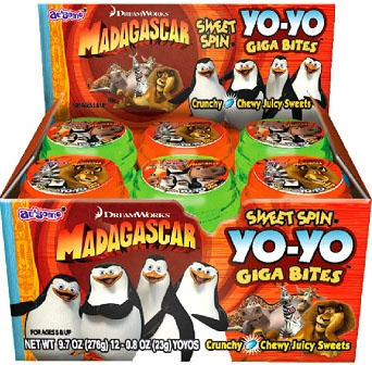 Madagascar Sweet Spin Yo-Yo (Display)