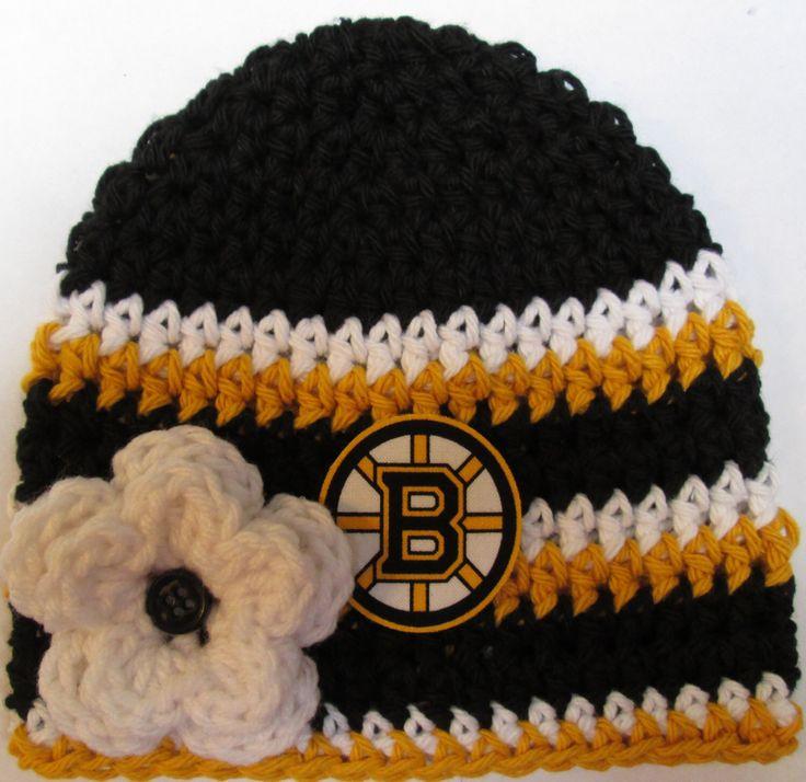 Crochet Hockey Hat, Baby Hockey Hat, Crochet Beanie Hat in Boston Black and Gold - Baby Photos - Newborn and Baby Sizes Available by whimsicallywinston on Etsy https://www.etsy.com/listing/203720580/crochet-hockey-hat-baby-hockey-hat