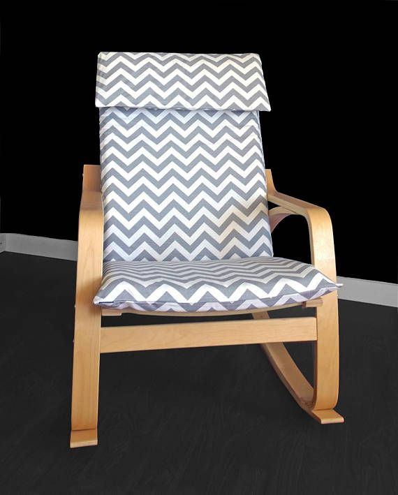 Beautiful Slipcover For The Ikea Poang Chair Cushion In Timeless