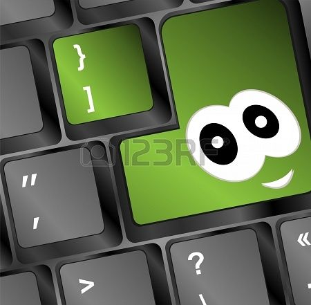 Computer Toetsen Bord Met Glimlach Key