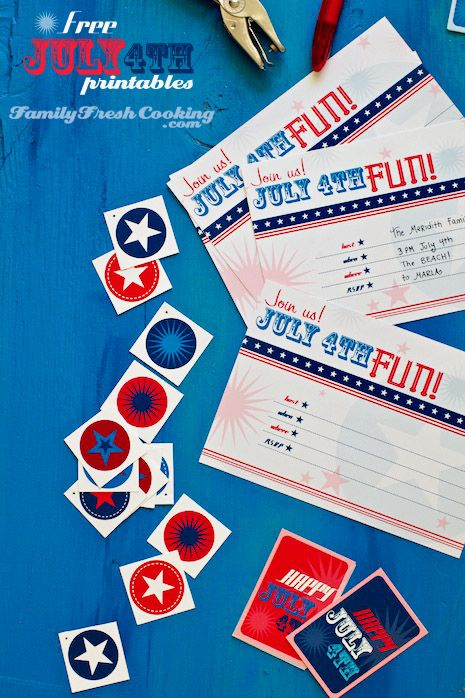 FUN! Free July 4th Party #Printables via @marlameridith