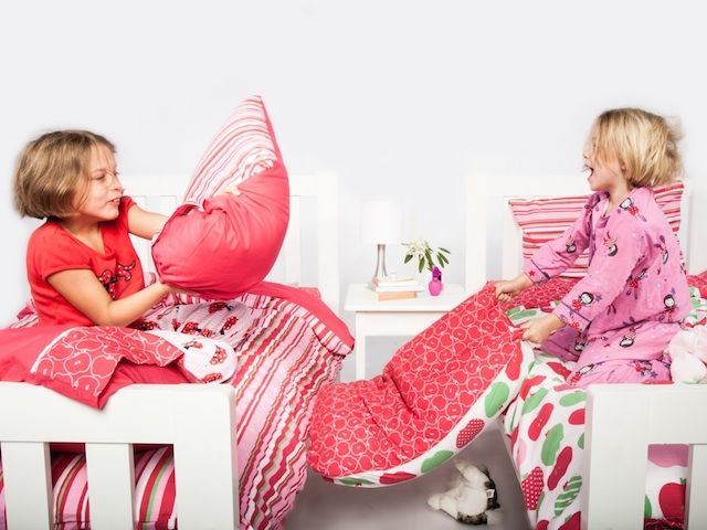For shared bedrooms, choose from the matching Apples quilt covers at Cool Kids Rooms.