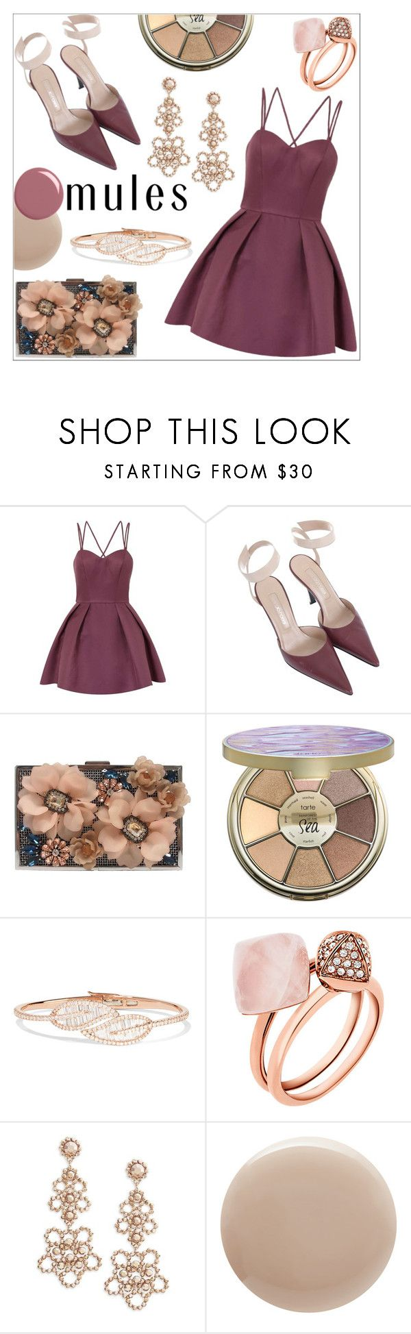 """Slip 'Em On"" by anilia ❤ liked on Polyvore featuring Chi Chi, Sergio Rossi, Sondra Roberts, tarte, Anita Ko, Michael Kors, Kate Spade, Oribe, Gucci and mules"