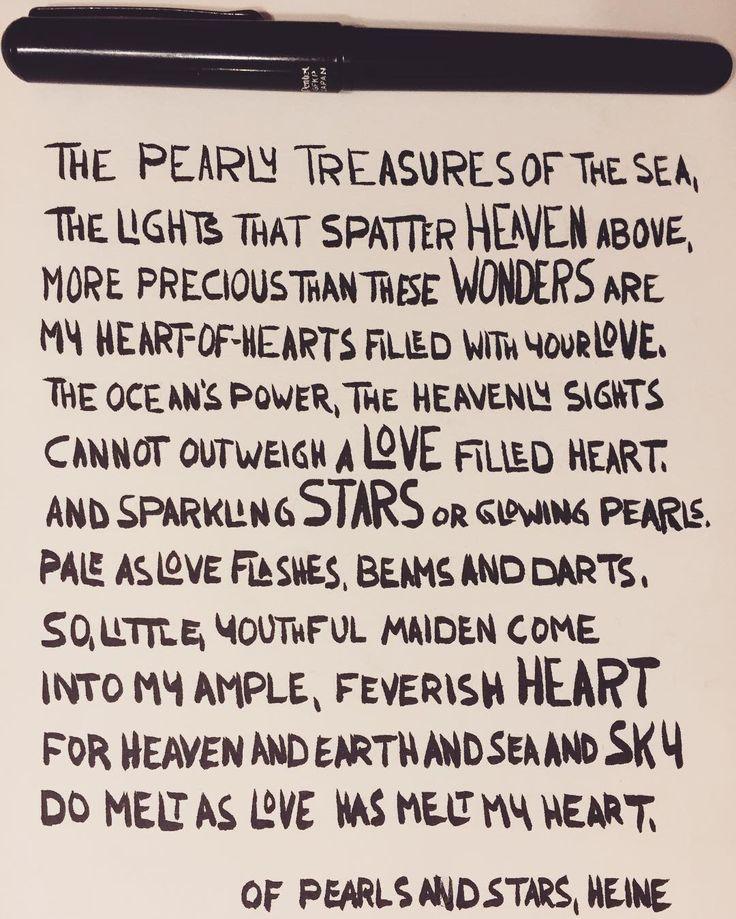 Of pearls and stars, H. Heine. Happy Valentine's Day.