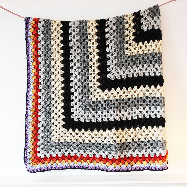 How To Crochet Numbers : Lambswool Crochet Blanket Number One CROCHET Oh Granny! What a squa ...