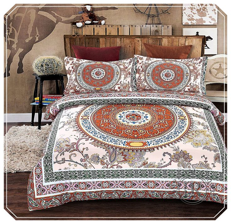 Gorgeous Complete #Bohemian_Mandala #Duvet_Set, will add #color and #style to your #bedroom.#bohemian #bohemianstyle #boho #bohochic #bohostyle #bohojewelry #bohowedding #duvetcover #bedding #room #roomdecor #homedecor #home #homemade #beds