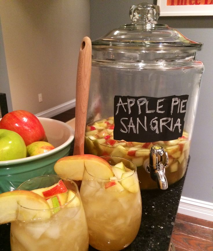 Apple Pie Sangria. I'm making this for Thanksgiving dinner at my house. I even found the same container to serve it in at Target!!