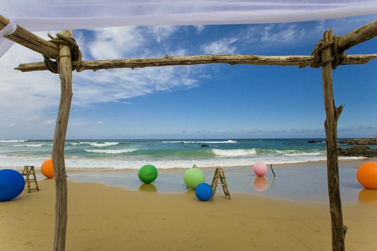Colourful Beach Ceremony, Keurbooms Beach, Plettenberg Bay.