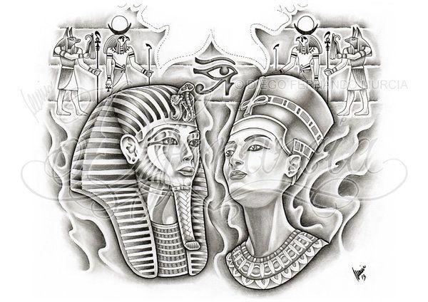Egyptian Tattoo Designs by Dfmurcia