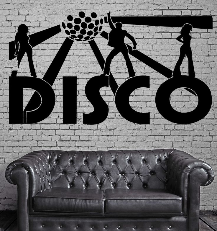Disco Wall Stickers Music Night Club Party Nightclub Dance Vinyl Decal (ig1321)