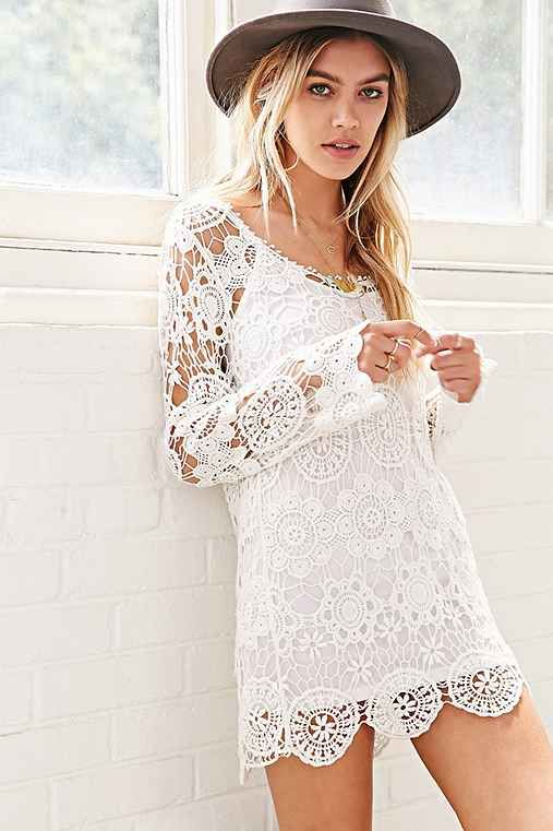 Reverse Crochet Bodycon Dress - Urban Outfitters