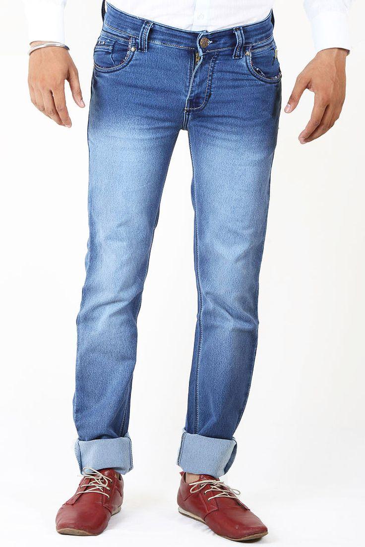http://tinyurl.com/gnaoept Buy Just Blue Medium Shade Lycra (Stretchable) Jeans Online For Men at GetAbhi.com