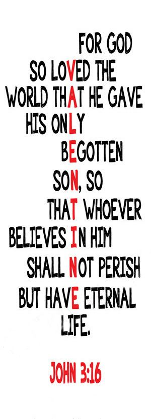 John 3:16 Valentine This sums up everything. A priest told us during a retreat made us aware that no human in his right mind would have his son executed mangled and brutally whipped to save a damned sinner like me . Thank you to the priest whose name i cannot remember.
