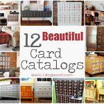 Repurposed Card Catalog Roundup