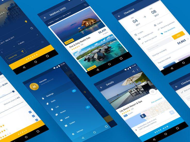 Booking.com app material redesign