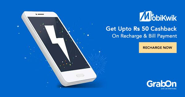Use @MobiKwik for Recharge & Bill Payment, to get Upto Rs. 50 #Cashback!   #recharge #offers #MobileMoney #india