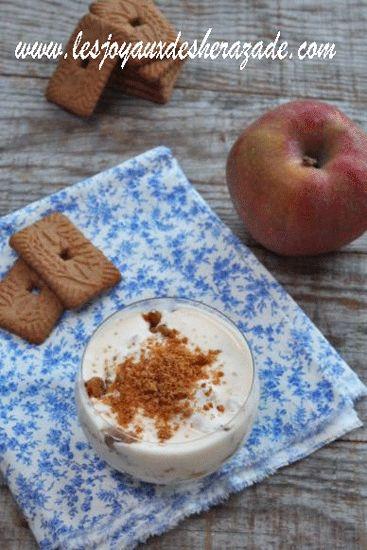 Tiramisu aux pommes et spéculoos