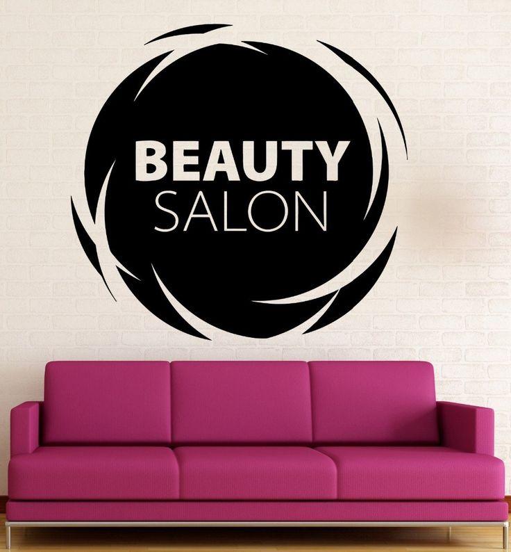 Салон красоты Стены Наклейки Волос Спа Женщина Салон Логотип Парикмахерская Этикета Винила