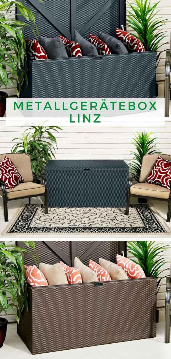 Arrow Metallgeratebox Linz Aufbewahrungsbox Garten Gerateschrank Und Gartenhaus Gmbh