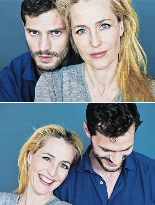 Jaime Dornan & Gillian Anderson   Daily Telegraph magazine