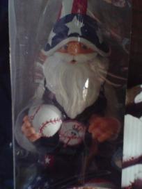 """NY Yankees Patriotic 11"""" Garden Gnome MLB Collectible NIB Free Shipping"""