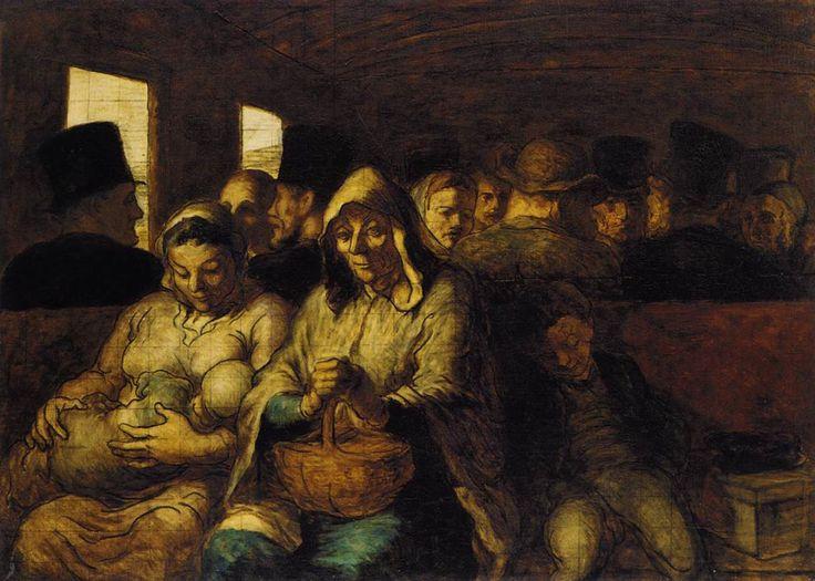 * Honoré Daumier - - - Third Class Carriage - (051-001)