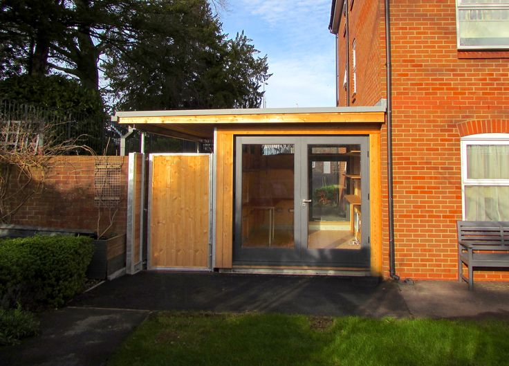 Design and Build Bristol, Modern Office and Link Structure Home Office Large French Doors