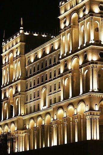 Beautiful architecture of Baku