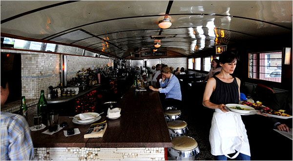 Diner opened in a Kullman car underneath the Brooklyn bridge on New Years Eve in 1999.