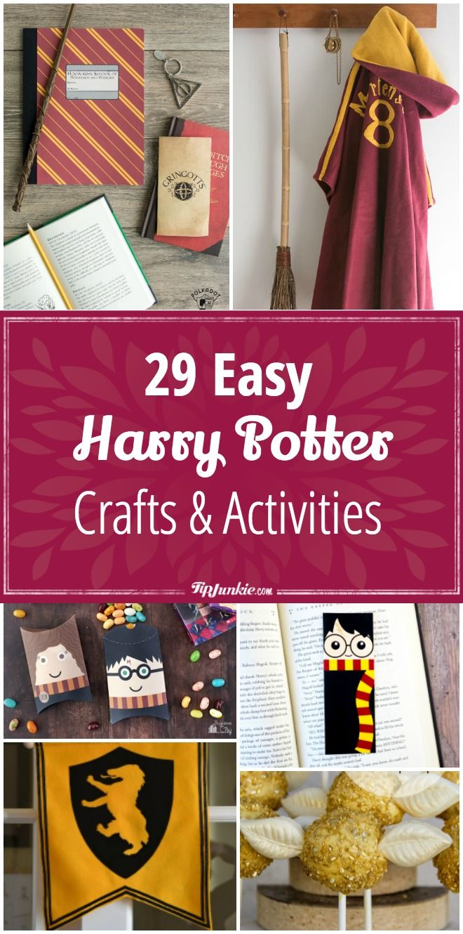 29 DIY Harry Potter Crafts & Activities via @tipjunkie