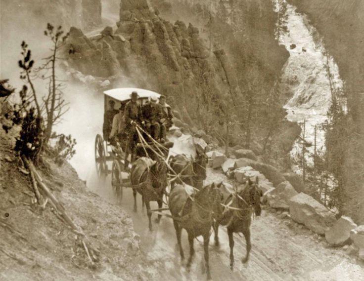 Stagecoach on the Virginia Cyn Road, Yellowstone - 1905