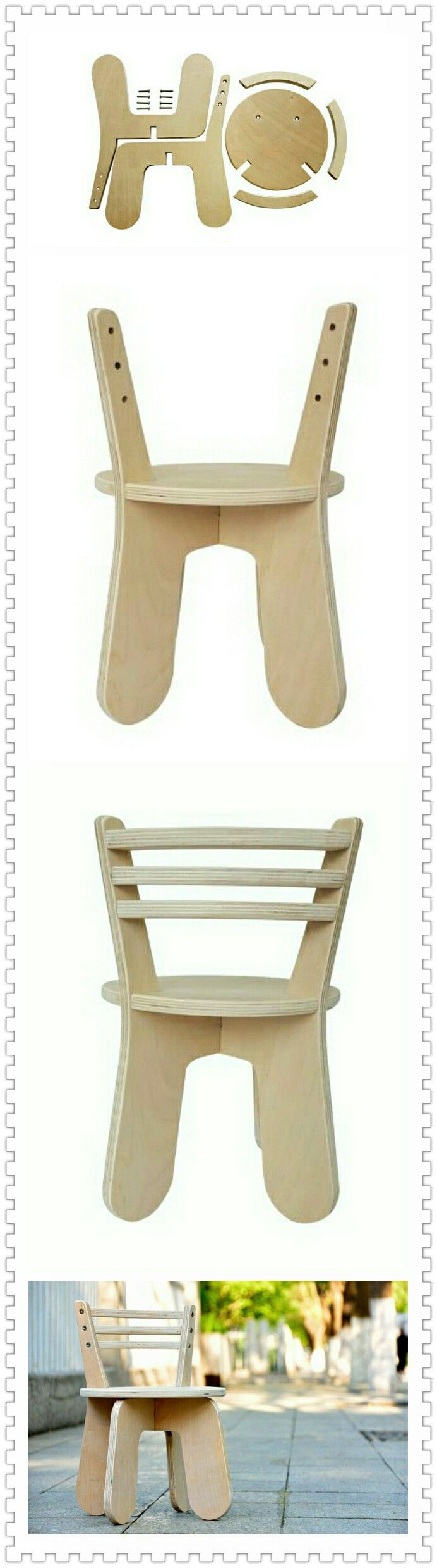 A cute children chair..actually it's an assignment of my design course. Our team worked it out excitedly~