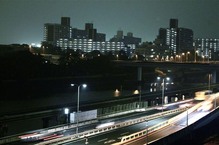 City lights in Japan