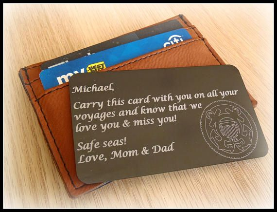 Message Card Wallet Card Coast Guard Deployment Gift