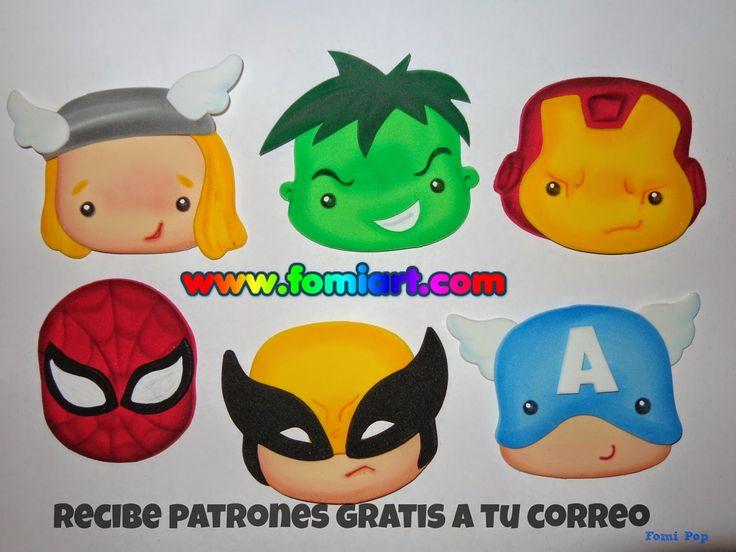 http://manualidadesamigas.foroargentina.net/SUPER HÉROES goma eva de Fomiart - moldes