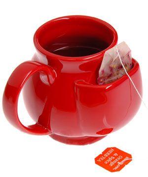 ティーバッグを収納出来て便利そうですー!:The most brilliant mug ever.