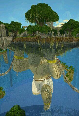 Riese Atlas in minecraft