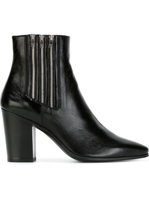 Saint Laurent zipped chelsea boots