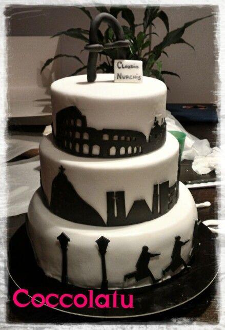 Skyline Roma e skyline Rio de Janeiro per una torta da Architetto con la A maiuscola!