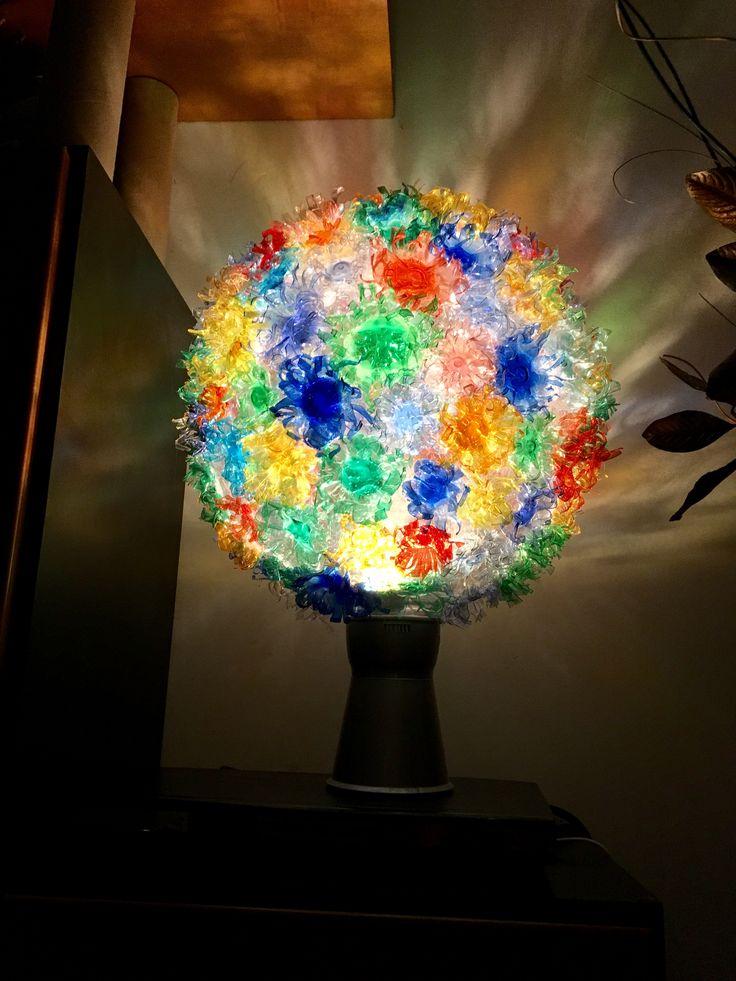 #lampada realizzata con #Bottigliediplastica, #RicicloCreativo #Handmade #plasticbottles #lamps