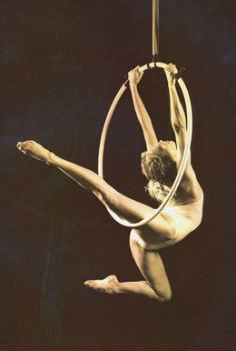 I personally think doing aerial hoop in any less than about two layers is a bit silly but this does look rather pretty