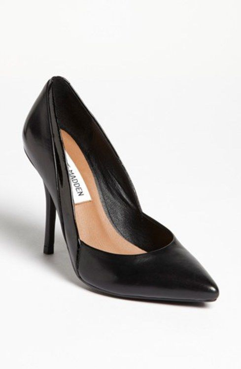 Steve Madden 'Clydee' Pump Black Leather 8.5 M gifters.com black dress shoes