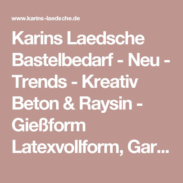 Karins Laedsche Bastelbedarf - Neu - Trends - Kreativ Beton & Raysin - Gießform Latexvollform, Gartenzwerg, Kreativbeton Rayher