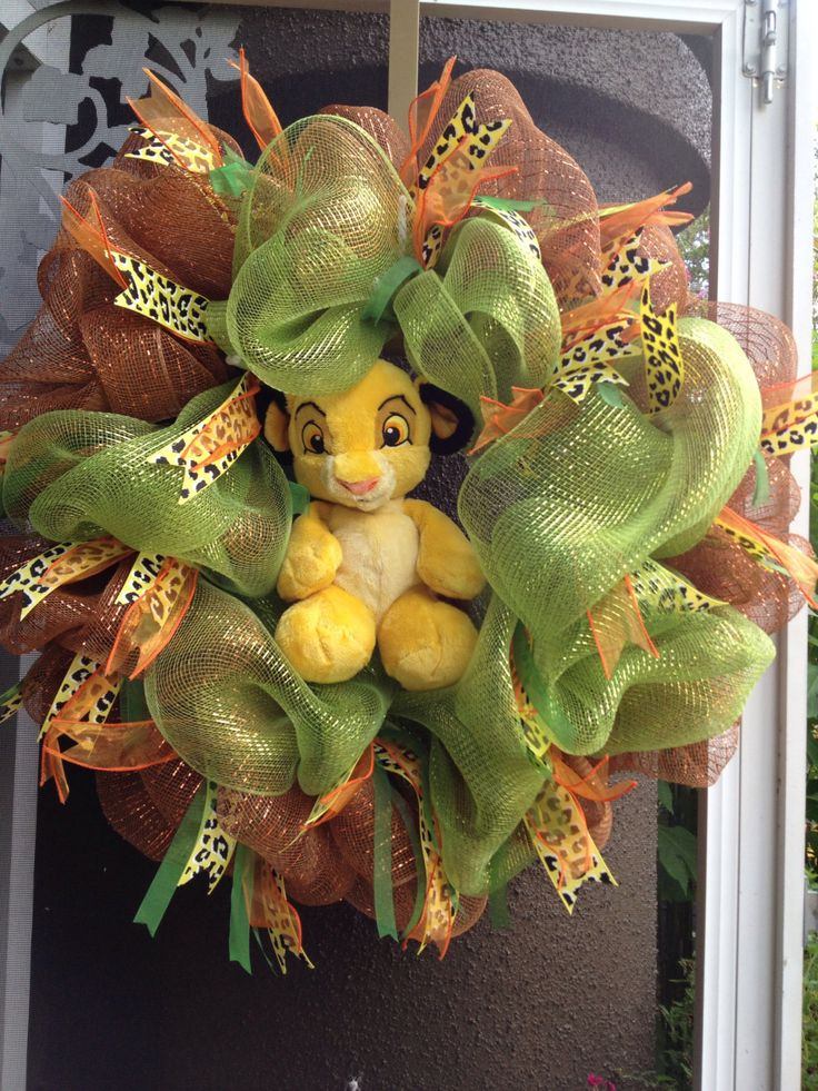 Simba the lion king deco mesh wreath by italywest on Etsy, $45.00
