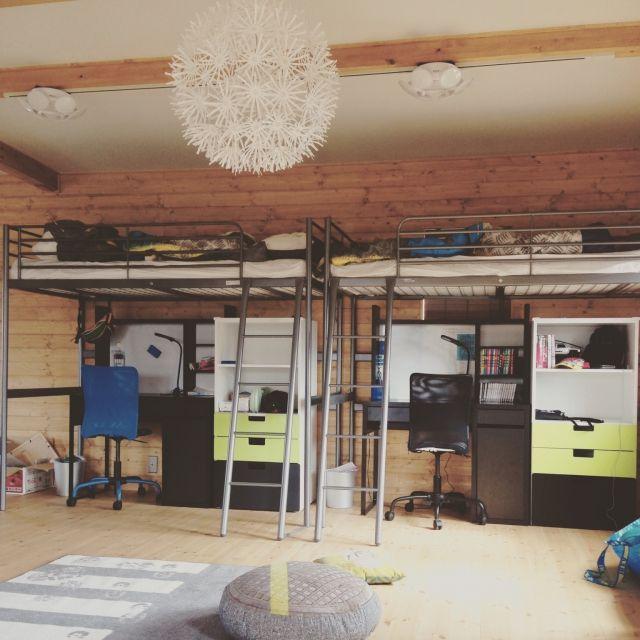 Masumiさんの、机,照明,IKEA,こども部屋,のお部屋写真