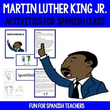 This set is perfect to remember Martin Luther King in Spanish class. This product has been created for FLES and FLEX programs. It includes only the target language. The e-book is short, fun and has a lot of repetition. This set includes:1. E-Book: Recordemos a Martin Luther King2.