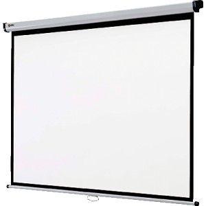 Pantalla de proyeccion de pared NOBO de 150 x 113 cm. con acabado mate antirreflejos.  Marco de pantalla en negro para una mejor posición de la proyección.  Formato: 4:3, ideal para presentaciones con videoproyector.