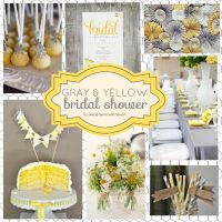 Gray and yellow bridal shower created on theinspirationboard.com ...so pretty!