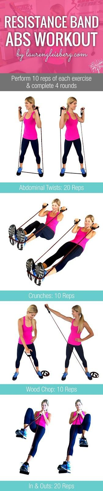 RESISTANCE BAND AB WORKOUT   Click for the full fitness plan by…