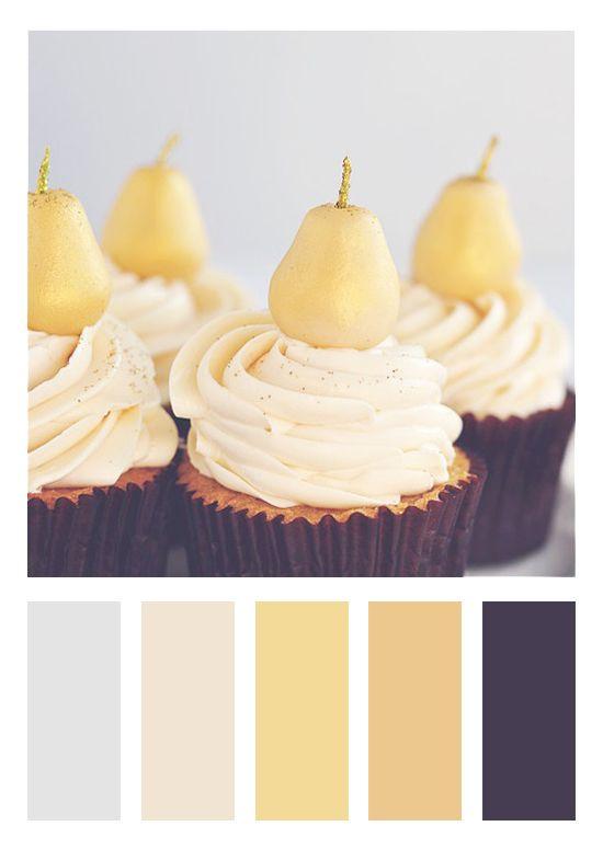 Color Scheme   Deep Purplish-Brown, Yellow and Gold, Cream and Light Grey